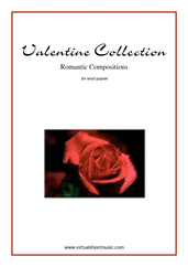 Cover icon of Valentine Sheet Music (parts) for wind quartet, classical score, intermediate/advanced