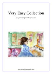 Very Easy Collection for piano solo - beginner children sheet music