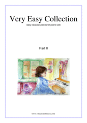 Cover icon of Very Easy Collection for Beginners, part II sheet music for piano solo, classical score, beginner skill level