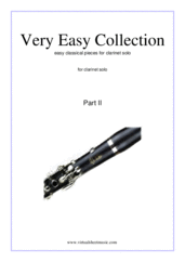 Cover icon of Very Easy Collection, part II sheet music for clarinet solo, classical score, beginner skill level