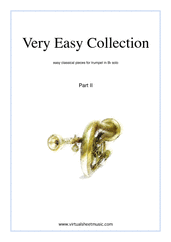 Cover icon of Very Easy Collection, part II sheet music for trumpet solo, classical score, beginner skill level