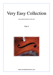 Cover icon of Very Easy Collection, part II sheet music for cello solo, classical score, beginner skill level