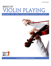 Cover icon of Basics of Violin Playing sheet music for violin by Fabrizio Ferrari