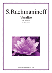 Cover icon of Vocalise Op.34 No.14 sheet music for string quartet by Serjeij Rachmaninoff, classical score, intermediate