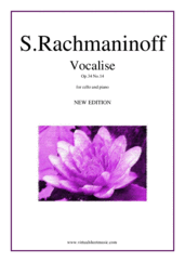 Cover icon of Vocalise Op.34 No.14 (NEW EDITION) sheet music for cello and piano by Serjeij Rachmaninoff, classical score, intermediate/advanced