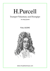 Cover icon of Trumpet Voluntary and Hornpipe (COMPLETE) sheet music for string quartet by Henry Purcell, classical wedding score, easy/intermediate skill level