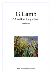 Cover icon of A Walk In The Garden sheet music for piano solo by Gary Lamb, easy