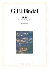Cover icon of Air from Water Music sheet music for piano solo by George Frideric Handel
