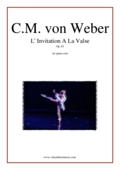 Cover icon of Invitation to Dance Op. 65 sheet music for piano solo by Carl Maria Von Weber, classical score, intermediate skill level