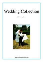 Cover icon of Wedding Sheet Music for two cellos and piano, classical wedding score, intermediate skill level