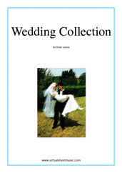 Cover icon of Wedding Sheet Music for three violins, classical wedding score, intermediate