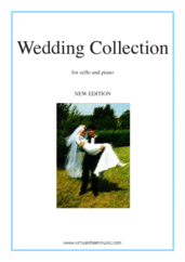 Cover icon of Wedding Sheet Music (NEW EDITION) for cello and piano (organ), classical wedding score, intermediate