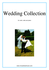 Cover icon of Wedding Sheet Music for violin, cello and piano, classical wedding score, intermediate