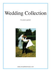 Cover icon of Wedding Sheet Music for piano quintet, classical wedding score, intermediate skill level