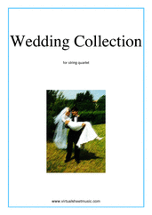 Cover icon of Wedding Sheet Music (parts) for string quartet, classical wedding score, intermediate skill level
