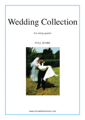Cover icon of Wedding Sheet Music (f.score) for string quartet, classical wedding score, intermediate skill level