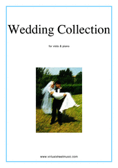Cover icon of Wedding Sheet Music for viola and piano (organ), classical wedding score, intermediate viola