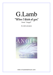 Cover icon of When I Think Of You sheet music for violin and piano by Gary Lamb, intermediate skill level
