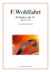 Cover icon of 60 Studies, Op. 45  - Book I sheet music for viola solo by Franz Wohlfahrt