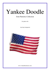 Cover icon of Yankee Doodle sheet music for piano solo, beginner piano