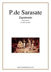 Cover icon of Zapateado, spanish dance sheet music for violin and piano by Pablo De Sarasate, classical score, advanced