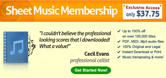 Sheet Music Membership: Access thousands of files with just one click