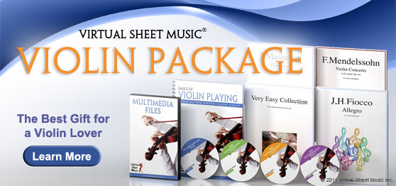 Virtual Sheet Music Violin Package