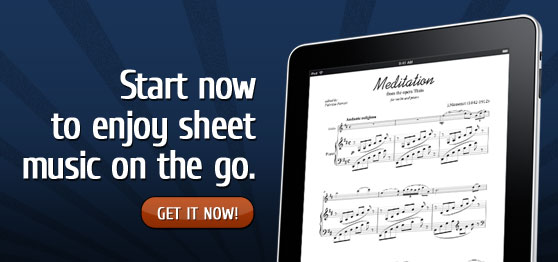 Start enjoying digital sheet music on your iPad or iPhone