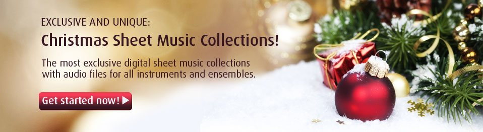 Exclusive Christmas Sheet Music Collections
